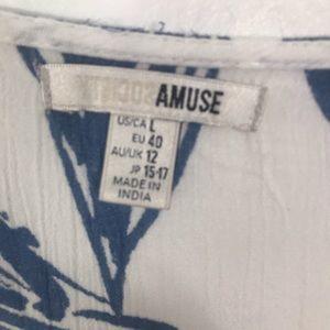 Amuse Society Swim - Amuse Society cover up blue and white Large